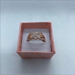 Rose Gold Infinity Ring sz 8